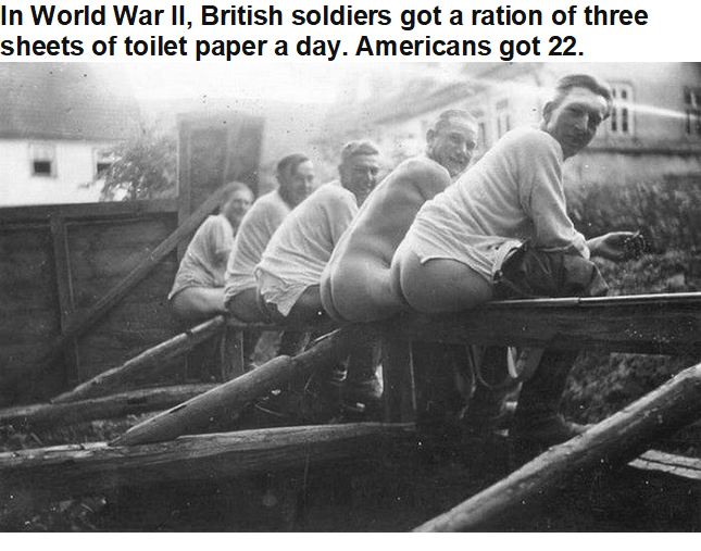 Toilet paper in WW 2